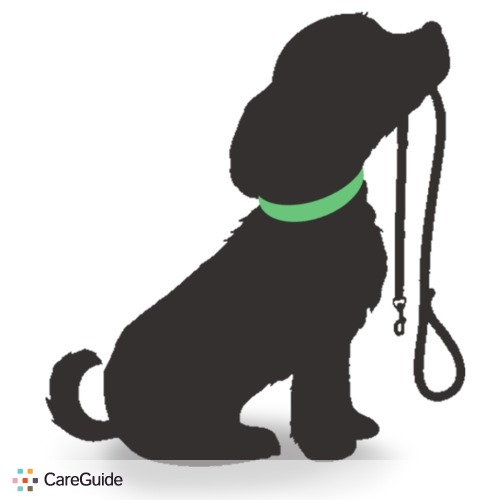 Dog Walking Logo Leashed logo dog flipped