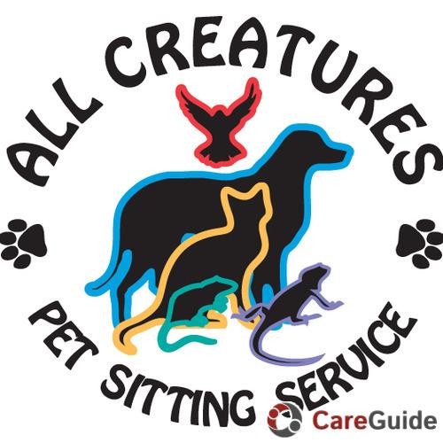 all creatures pet sitting service   dog walker pet sitter