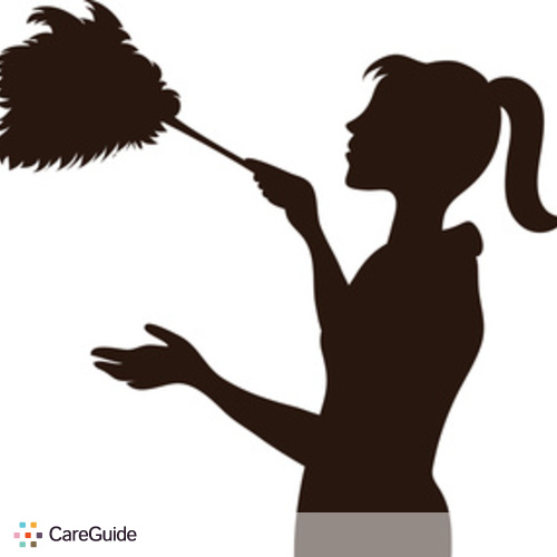 Housekeeper Silhouette Silhouette of maid with duster