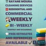 Rayane Moura, cleaning services, residential and commercial.