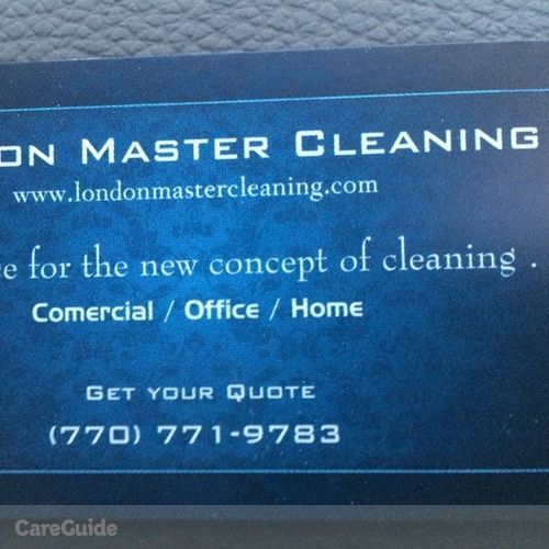 Housekeeper Provider London Master Cleaning's Profile Picture