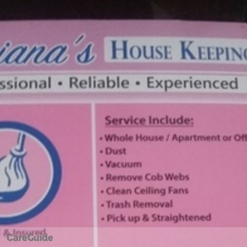 Housekeeper Provider Adrianas D's Profile Picture