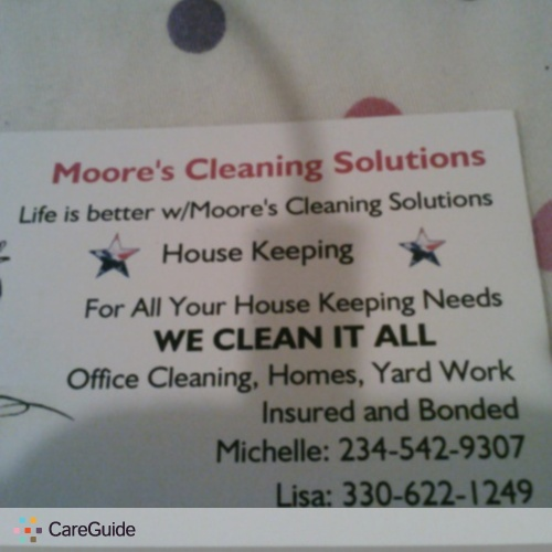 Housekeeper Provider Michelle Moore's Profile Picture