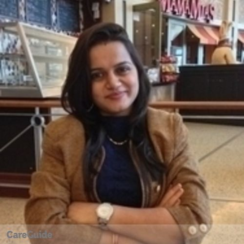 Canadian Nanny Provider Pooja Varshney's Profile Picture