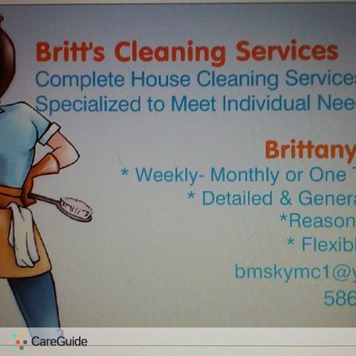 Housekeeper Provider Brittany Monfils's Profile Picture