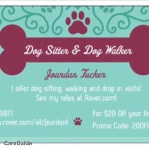 Pet Care Provider Jourdan Tucker's Profile Picture