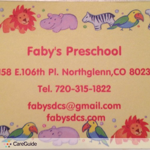 Child Care Provider Fabiola Yang's Profile Picture