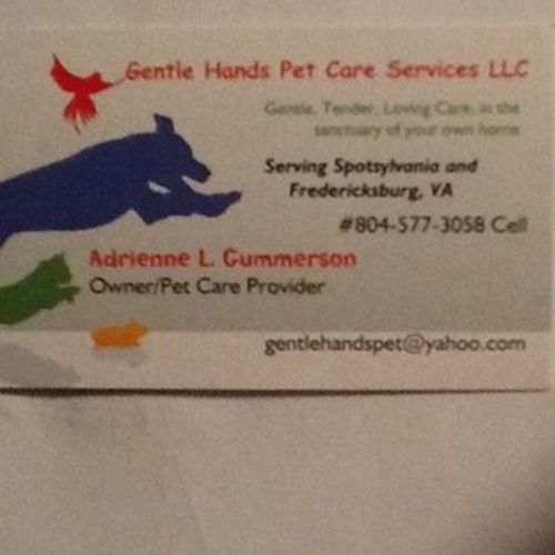 Pet Care Provider Adrienne Gummerson's Profile Picture