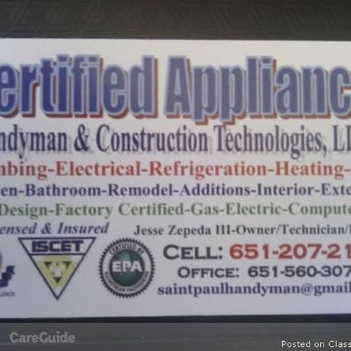 Handyman Provider Jesse Zepeda's Profile Picture
