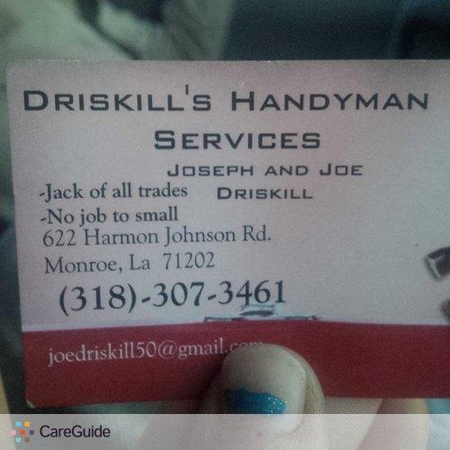 Handyman Provider Joseph Driskill's Profile Picture