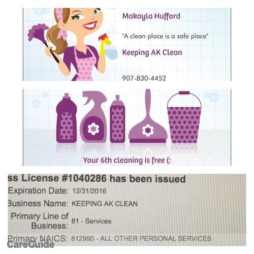 Housekeeper Provider Makayla Hufford's Profile Picture