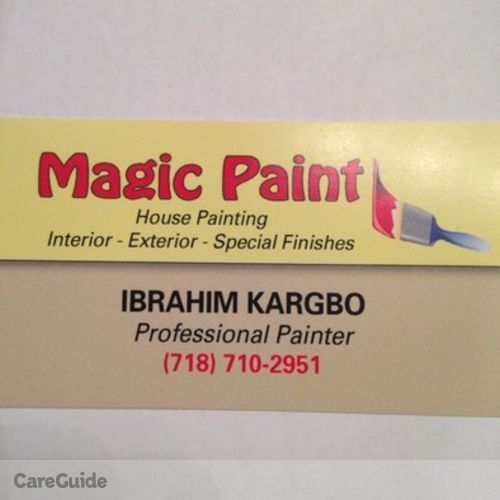 Painter Provider Ibrahim Kargbo's Profile Picture