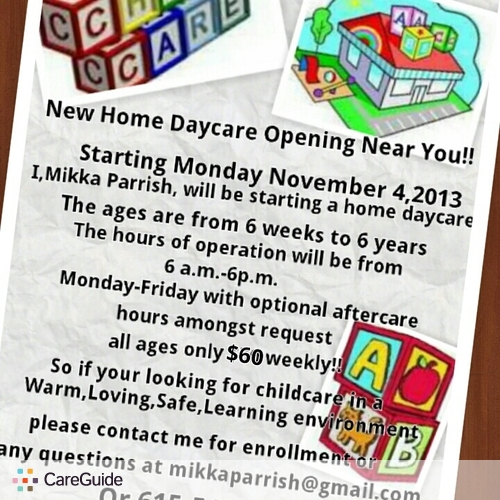 Child Care Provider Mikka P's Profile Picture
