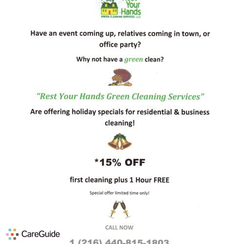 Housekeeper Provider Rest Your Hands Green Cleaning Service 's Profile Picture