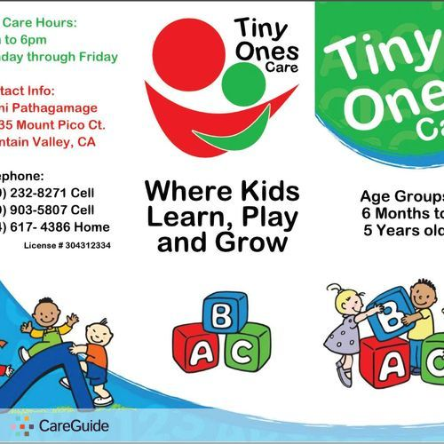 Child Care Provider Tiny Ones Care's Profile Picture