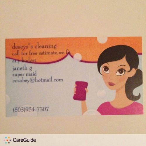 Housekeeper Provider Janeth G's Profile Picture