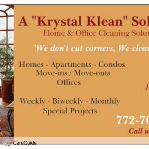 Housekeeper Provider A Krystal Klean Solution's Profile Picture