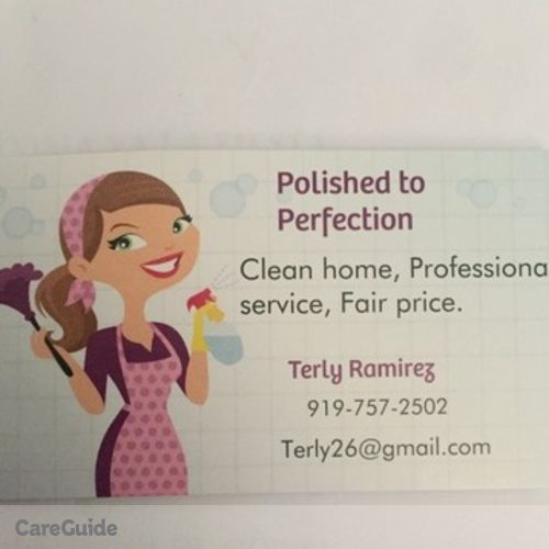 Housekeeper Provider Terly R's Profile Picture