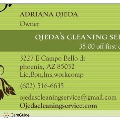 Housekeeper Provider Adriana O's Profile Picture