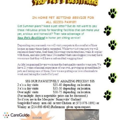 Pet Care Provider Chelsea A's Profile Picture