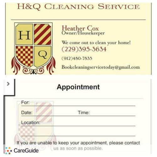Housekeeper Provider Heather Cox's Profile Picture