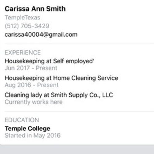 Housekeeper Provider Carissa B Gallery Image 2