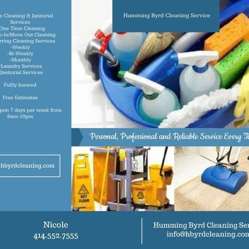 Housekeeper Provider Humming Byrd Cleaning Service's Profile Picture