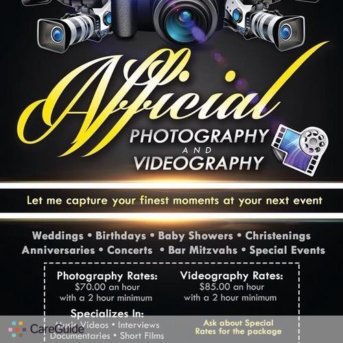 Videographer Provider Tony W's Profile Picture