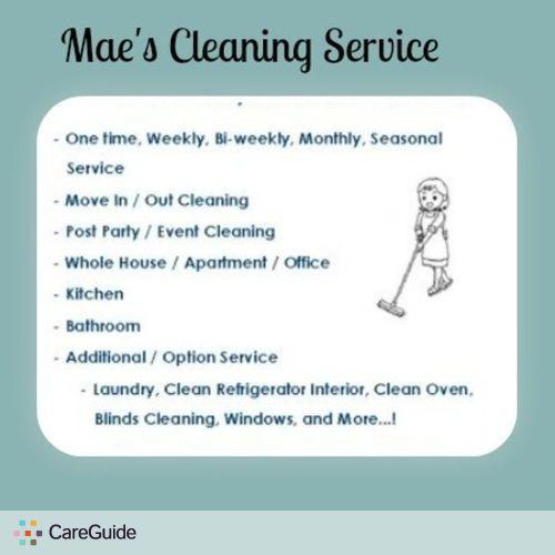 Housekeeper Provider Mara Mae's Profile Picture