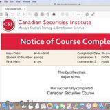 CANADIAN SECURITIES COURSE- TUTOR (87 % marks in CSC) !