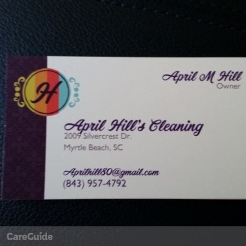 Housekeeper Provider April Hill's Profile Picture