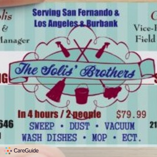 Housekeeper Provider John Solis' Brothers Cleaning Services's Profile Picture