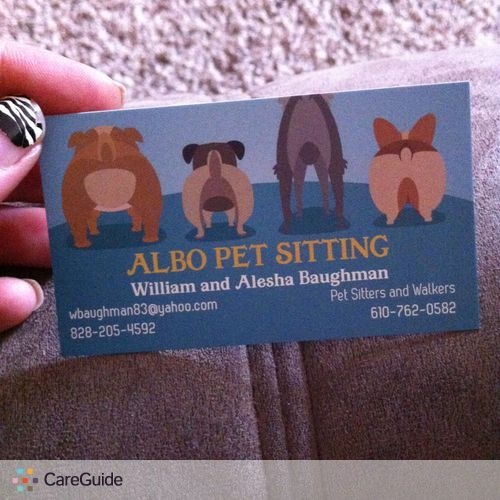 Pet Care Provider William and Alesha Baughman's Profile Picture