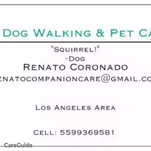 Pet Care Job Renato Coronado's Profile Picture