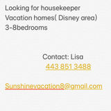 Looking for housekeeper