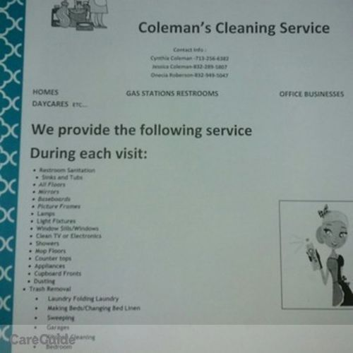 Housekeeper Provider Onecia Roberson's Profile Picture