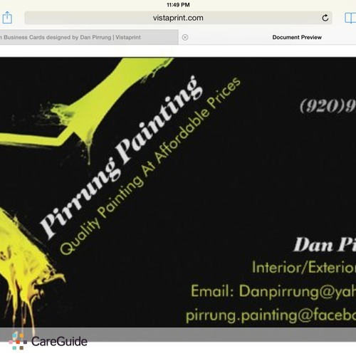 Painter Provider Dan Pirrung's Profile Picture