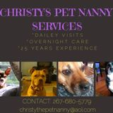Pet Nanny services offered in Quakertown, Pennsylvania and surrounding areas.