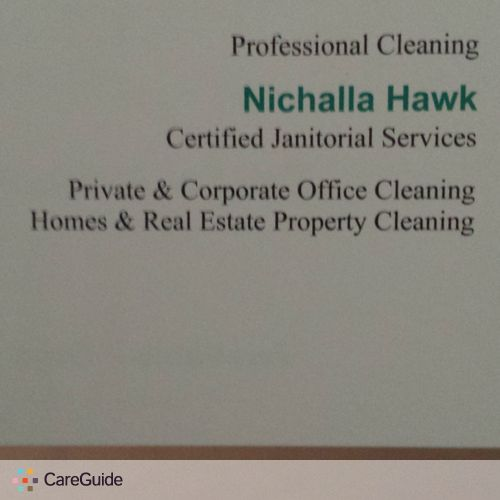 Housekeeper Provider Nichalla Hawk's Profile Picture
