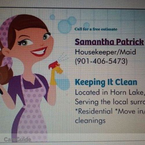 Housekeeper Provider Samantha Patrick's Profile Picture