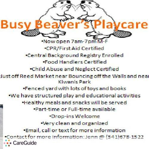 Child Care Provider jennifer hutt's Profile Picture