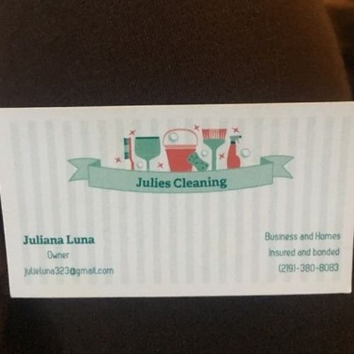Available: Present House Cleaner in La Porte