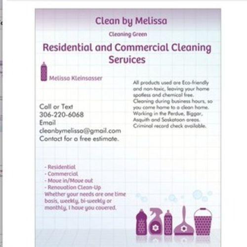 Housekeeper Provider Melissa Kleinsasser's Profile Picture