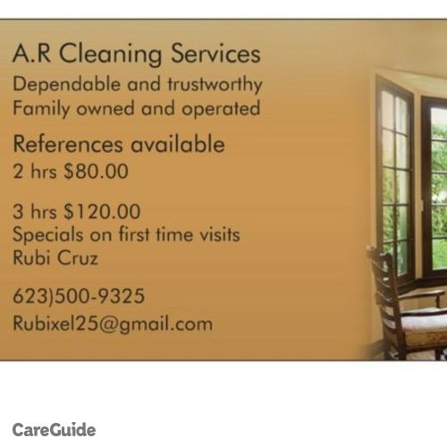 Housekeeper Provider Rubi C's Profile Picture
