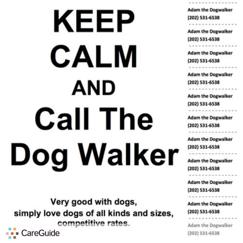 Pet Care Provider Adam The Dogwalker's Profile Picture