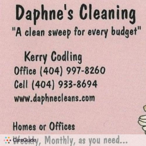 Housekeeper Provider Daphnes Cleaning's Profile Picture