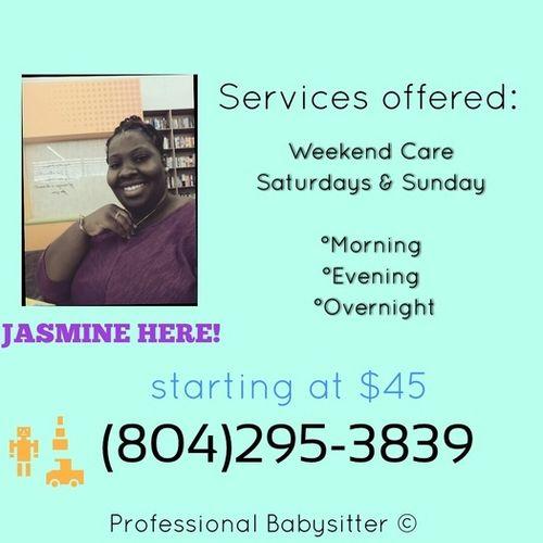 Child Care Provider Jasmine Corbin's Profile Picture