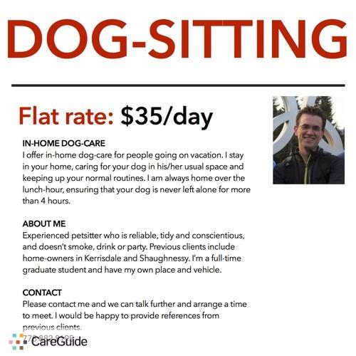 Pet Care Provider John M's Profile Picture
