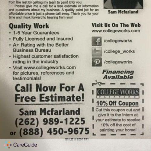 Painter Provider Sam M's Profile Picture