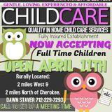 Daycare Provider in Cherokee